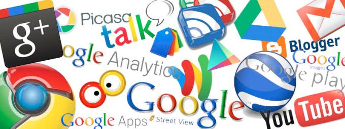 Imagine cu serviciile oferite de Google